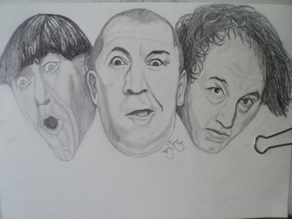 Curly Howard, Larry Fine, Moe Howard par miguelg